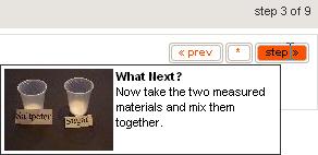 Instructables.com: Informations contextuelles à une étape de navigation