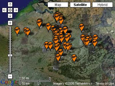 carte des hotspot Fon en Belgique